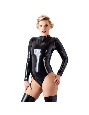 Body à manches longues en latex