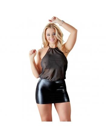 Mini robe dos nu bi-matière