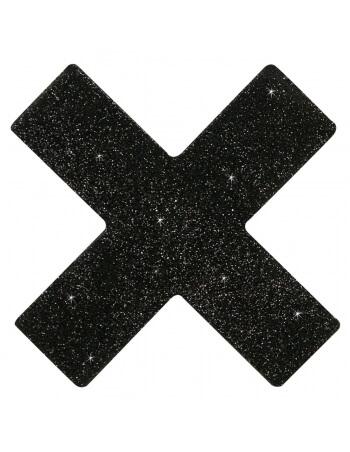 Nippies croix noires à paillettes