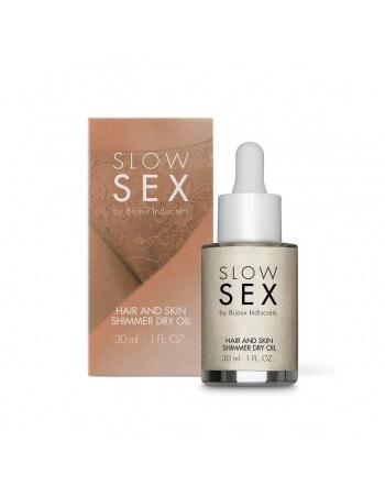 Huile sèche intime brillante Slow Sex