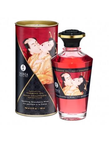 Huile chauffante aphrodisiaque Shunga Fraise