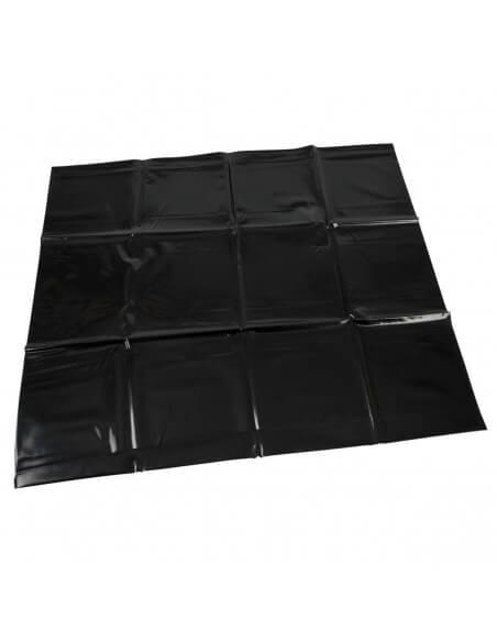 Taie d'oreiller noire en vinyle