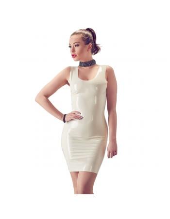 Robe blanche en latex