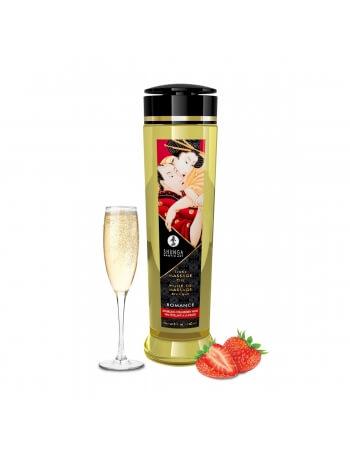 Huile de massage Romance vin pétillant et fraise