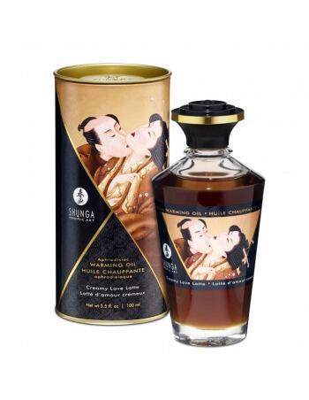 Huile chauffante aphrodisiaque Shunga Latte crémeux