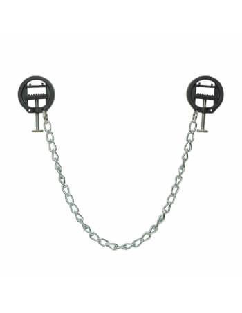 Pinces à sein à étau avec chaîne