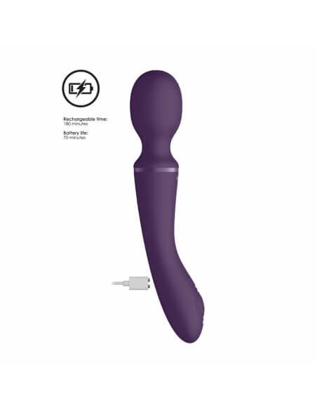 Wand et vibromasseur Enora violet
