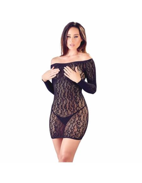 Robe en résille léopard