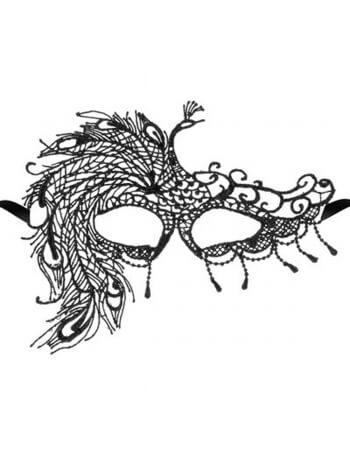 Masque en guipure noire Crépuscule
