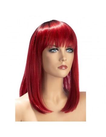 Elvira carré mi-long rouge