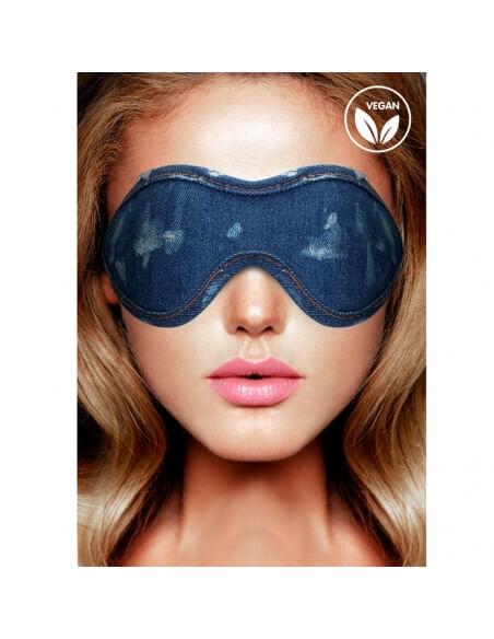 Masque en denim bleu