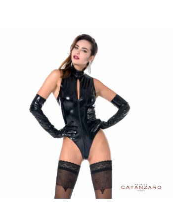 Body en vinyle noir Manon
