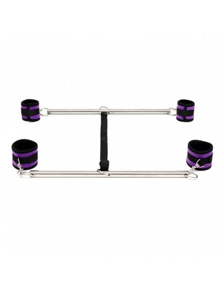 Double barre et menottes souples violettes