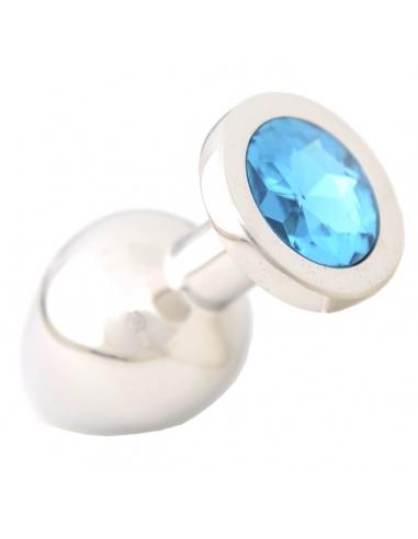 Plug en acier et pierre bleue L