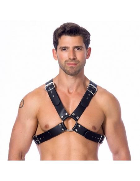 Harnais en cuir à larges boucles - Rimba - Articles fetish et BDSM
