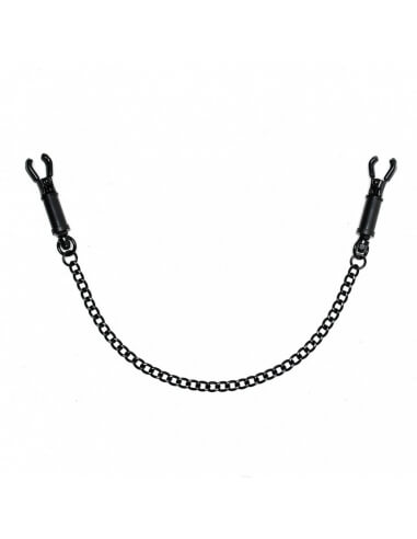 Pinces à sein noires à vis Rimba - Accessoires BDSM, fetish, bondage - Sexy Center