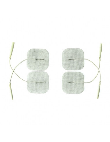 Lot de 4 électrodes pour Electrostimulation Rimba - Accessoires BDSM, fetish, bondage - Sexy Center